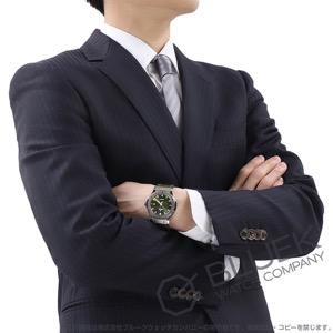 ウブロ クラシック フュージョン チタニウム グリーン アリゲーターレザー 腕時計 メンズ HUBLOT 542.NX.8970.LR