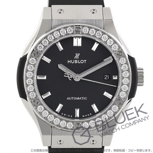 ウブロ クラシック フュージョン チタニウム ダイヤ 腕時計 レディース HUBLOT 582.NX.1170.RX1204