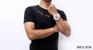 ウブロ キングパワー コスタ・スメラルダ 世界限定100本 クロノグラフ RG金無垢 アリゲーターレザー 腕時計 メンズ HUBLOT 710.OE.2123.GR.PCM12
