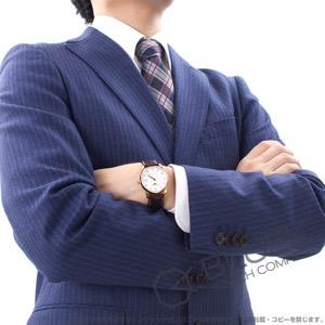 ロンジン マスターコレクション ダイヤ PG金無垢 アリゲーターレザー 腕時計 メンズ LONGINES L2.518.8.77.5