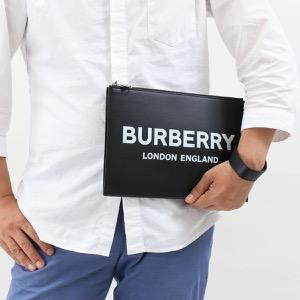 バーバリー クラッチバッグ/セカンドバッグ バッグ メンズ レディース エディン ロゴプリント ブラック 8009214 A1189 2019年春夏新作 BURBERRY