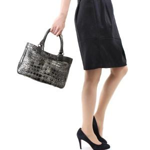 本革 ハンドバッグ バッグ レディース クロコ アンティークプラチナ CRB507 ANTPL Leather