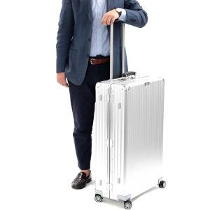 リモワ スーツケース/旅行用バッグ バッグ メンズ レディース クラシック フライト 97L 7泊〜 シルバー&ダークブラウン 971.77.00.4 RIMOWA