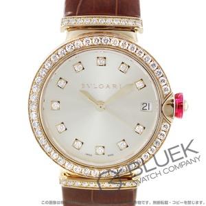 ブルガリ ルチェア ダイヤ PG金無垢 アリゲーターレザー 腕時計 レディース BVLGARI LUP33C6GDLD/11.A