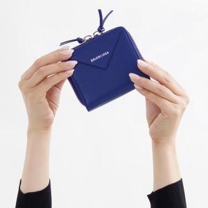 バレンシアガ 二つ折り財布 財布 レディース ペーパー ビルフォールド ロイヤルブルー 371662 DLQ0N 4130 2018年秋冬新作 BALENCIAGA
