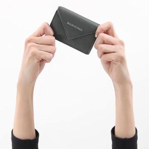 バレンシアガ 三つ折り財布 財布 レディース ペーパー ミニ グリスフォッシルグレー 391446 DLQ0N 1110 2019年秋冬新作 BALENCIAGA