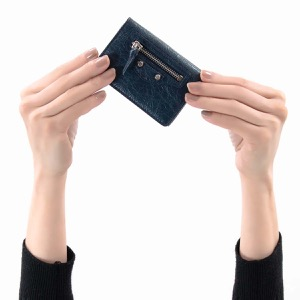 バレンシアガ 三つ折り財布/ミニ財布 財布 レディース クラシック ミニ ブルーデミニュイネイビー 477455 D940N 4030 2019年春夏新作 BALENCIAGA