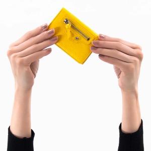バレンシアガ 三つ折り財布/ミニ財布 財布 レディース クラシック ミニ ジューンイエロー 477455 D940N 7145 2019年春夏新作 BALENCIAGA