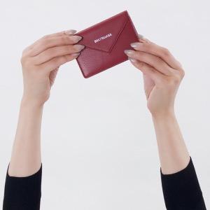 バレンシアガ 名刺入れ/カードケース レディース ペーパー シィン カード ルージュガーネットレッド 499201 DLQ0N 6135 BALENCIAGA
