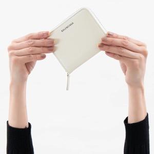 バレンシアガ 二つ折り財布 財布 レディース エブリディ ビルフォールド ホワイト&ブラック 551933 DLQ0N 1209 BALENCIAGA