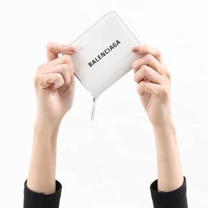 バレンシアガ 二つ折り財布 財布 レディース エブリディ ビルフォールド ブランホワイト&ブラック 551933 DLQ4N 9060 BALENCIAGA