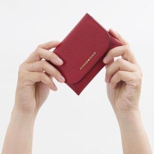 バーバリー カードケース レディース パレードレッド 4044720 60450 BURBERRY