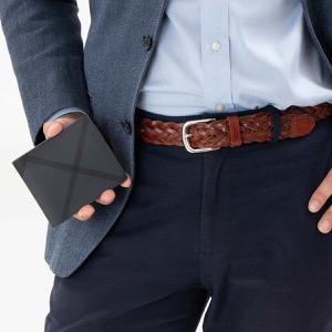 バーバリー 二つ折り財布 財布 メンズ シーシービル ロンドンチェック チャコールグレー&ブラック 8006028 A1008 BURBERRY