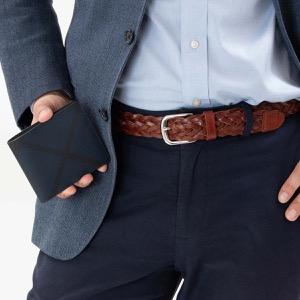 バーバリー 二つ折り財布 財布 メンズ シーシービル ロンドンチェック ネイビー&ブラック 8006029 A1960 BURBERRY