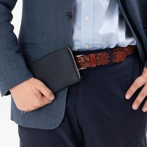 バーバリー 長財布 財布 メンズ レグジグ ロンドンチェック ネイビー&ブラック 8006050 A1960 BURBERRY