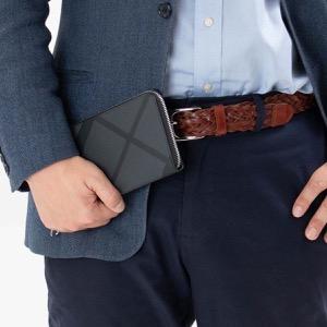 バーバリー 長財布 財布 メンズ レグジグ ロンドンチェック チャコールグレー&ブラック 8006051 A1008 BURBERRY