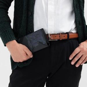 バーバリー 長財布 財布 メンズ キャベンディッシュ ロンドンチェック チャコールグレー&ブラック 8006072 A1008 2019年春夏新作 BURBERRY