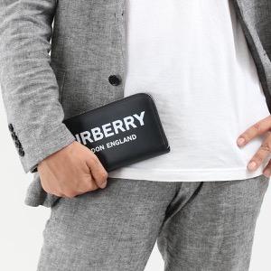 バーバリー 長財布 財布 メンズ レグジグ プリント ブラック 8009211 A1189 BURBERRY