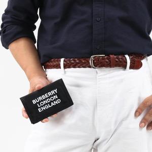 バーバリー 三つ折り財布 財布 メンズ レディース トラベル ロゴプリント ブラック 8014723 110985 A1189 2019年秋冬新作 BURBERRY
