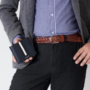 バリー 二つ折り財布 財布 メンズ テイゼル ニューブルー&ブラック TEISEL LT 17 6218015 BALLY