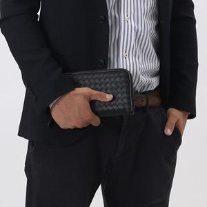 ボッテガヴェネタ (ボッテガ・ヴェネタ) 長財布 財布 メンズ レディース イントレチャート ブラック 114076 V001N 1000 BOTTEGA VENETA