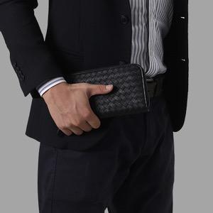 ボッテガヴェネタ (ボッテガ・ヴェネタ) 長財布 財布 メンズ イントレチャート 【INTRECCIATO】 ブラック 114076 VX051 1000 BOTTEGA VENETA