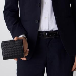 ボッテガヴェネタ 二つ折り財布 財布 メンズ イントレチャート INTRECCIATO ブラック 121059 V001N 1000 BOTTEGA VENETA