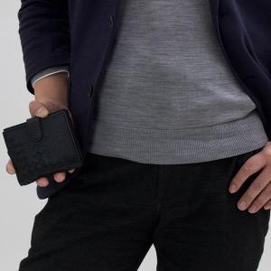 ボッテガヴェネタ (ボッテガ・ヴェネタ) 二つ折り財布 財布 メンズ レディース イントレチャート INTRECCIATO ブラック 121059 VCEP1 1000 BOTTEGA VENETA