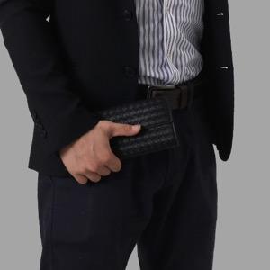 ボッテガヴェネタ (ボッテガ・ヴェネタ) 長財布 財布 メンズ イントレチャート ブラック 150509 V001N 1000 2011年春夏新作 BOTTEGA VENETA