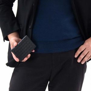ボッテガヴェネタ (ボッテガ・ヴェネタ) カードケース/クレジットカードケース メンズ イントレチャート ブラック 464902 V4651 1000 BOTTEGA VENETA