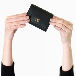 ボッテガヴェネタ (ボッテガ・ヴェネタ) 三つ折り財布 財布 レディース イントレチャート ブラック&デコローズレッド 550306 VO0B9 8723 BOTTEGA VENETA