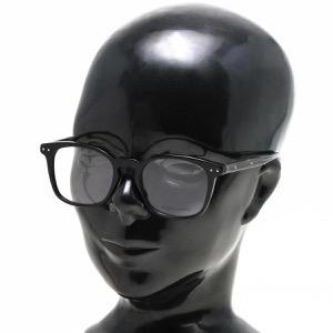 ボッテガヴェネタ (ボッテガ・ヴェネタ) 伊達メガネ メンズ レディース イントレチャート ブラック&グレークリア&トランスペアレントクリア BV0100OA 004 ASI BOTTEGA VENETA