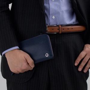 ブルガリ 長財布 財布 メンズ ブルガリブルガリ マン BB MAN デニムサファイアブルー 284231 BVLGARI