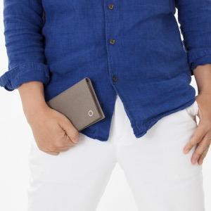 ブルガリ 長財布 財布 メンズ ブルガリブルガリ マン ストーングレー 30399 BVLGARI