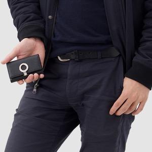 ブルガリ キーケース メンズ レディース ブルガリブルガリ レザー 6連 ブラック 30422 BVLGARI