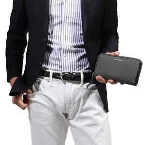 ブルガリ 長財布 財布 メンズ ウィークエンド グレー&ブラック 32587 BVLGARI