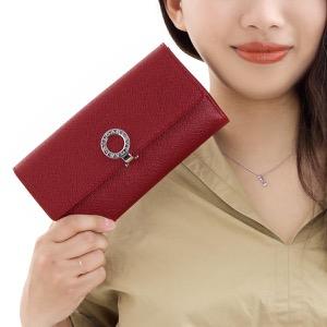 ブルガリ 長財布 財布 レディース ブルガリブルガリ レザー ルビーレッド 33744 BVLGARI