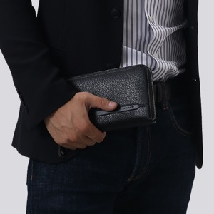 ブルガリ 長財布 財布 メンズ オクト レザー ラウンドファスナー ブラック 36968 BVLGARI