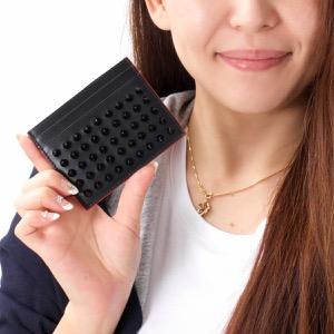 クリスチャンルブタン カードケース メンズ レディース キオス KIOS スパイク スタッズ ブラック&レッド 3165091 CM53 CHRISTIAN LOUBOUTIN