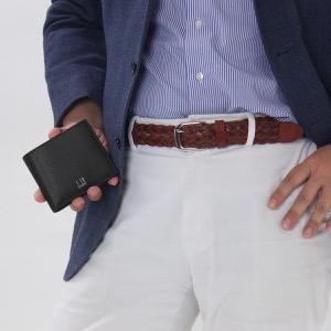 ダンヒル 二つ折り財布 財布 メンズ カドガン ブラック DU18F2320CA 001 DUNHILL