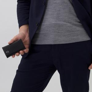 ダンヒル キーケース メンズ マイクロ ディーエイト 【D-EIGHT】 ブラック L2V350 A DUNHILL