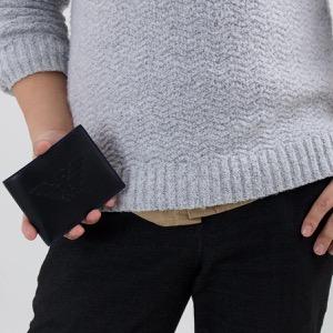 エンポリオアルマーニ 二つ折り財布 財布 メンズ P.CON PORTAMONETE PU LISCIO イーグルマーク ブラック Y4R165 YG90J 81072 EMPORIO ARMANI