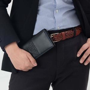 エンポリオアルマーニ 長財布 財布 メンズ イーグルマーク ブラック Y4R170 YG90J 81072 EMPORIO ARMANI