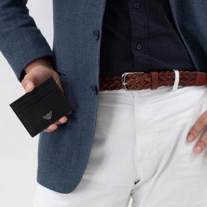 エンポリオアルマーニ クレジットカードケース メンズ ブラック YEM320 YAQ2E 81072 EMPORIO ARMANI