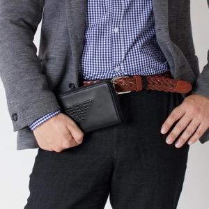 エンポリオアルマーニ 長財布 財布 メンズ イーグルマーク ブラック YEME49 YG90J 81072 EMPORIO ARMANI