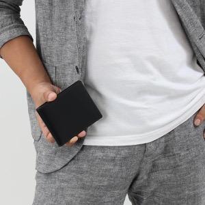エッティンガー 二つ折り財布【札入れ】 財布 メンズ ブライドル ブラック&パネルハイドイエロー 030CJR BH BLACK ETTINGER