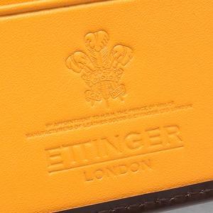 エッティンガー 二つ折り財布 財布 メンズ ブライドル ナッツブラウン&パネルハイドイエロー 141JR BH NUT ETTINGER