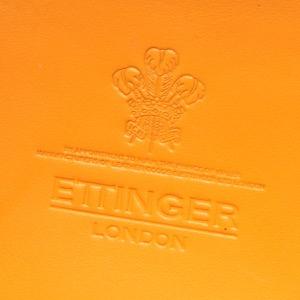 エッティンガー コインケース【小銭入れ】 財布 メンズ ブライドル ブラック&パネルハイドイエロー 2034DJR BH BLACK ETTINGER