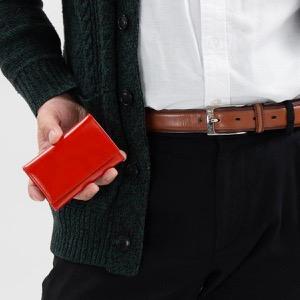 エッティンガー キーケース メンズ ブライドル レッド&パネルハイドイエロー 2095JR BH RED ETTINGER