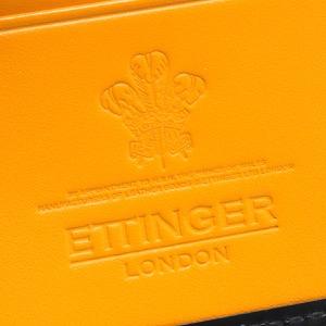 エッティンガー 二つ折り財布【札入れ】 財布 メンズ ブライドル ブラック&パネルハイドイエロー 787AJR BH BLACK ETTINGER